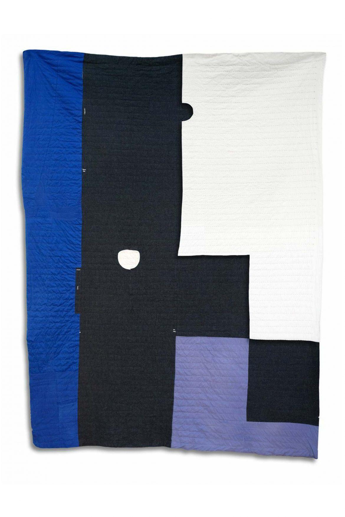Arrange Whatever Pieces Come Your Way, Quilt 24 (front), 2021, Wool, Cotton and Bamboo, 251 x 190 cm, courtesy: the artists & Linn Lühn, Düsseldorf